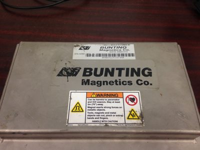 Used 7x12 bunting rare earth plate magnet for sale