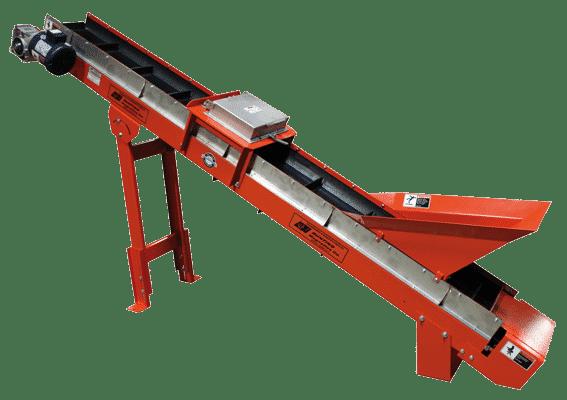 plastics crossbelt conveyor system