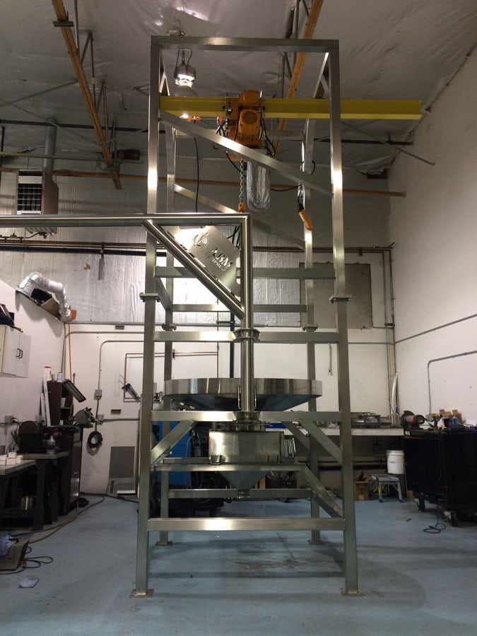 Bulk Bag Unloader With Hoist & Trolley