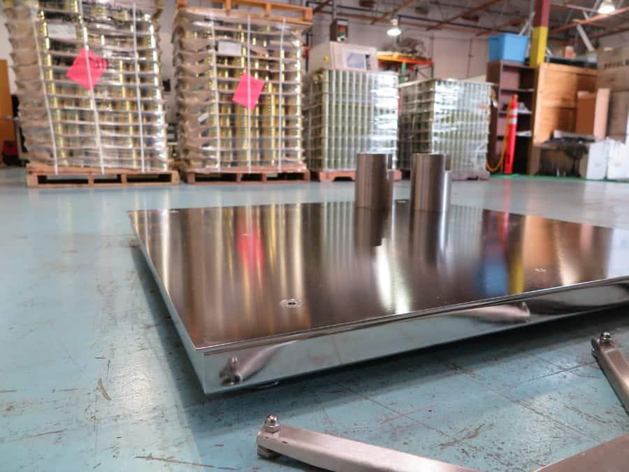 Electro-Polish Floor Scale
