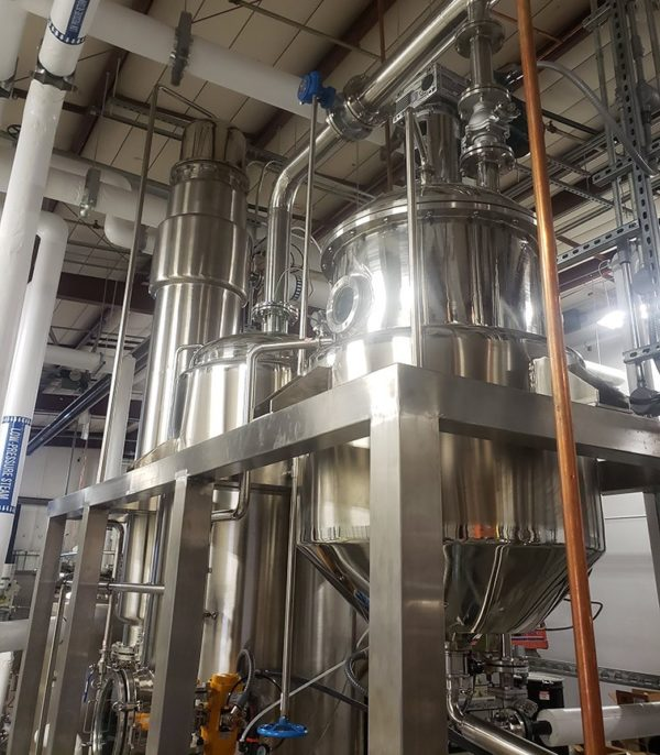 High-throughput solvent recovery