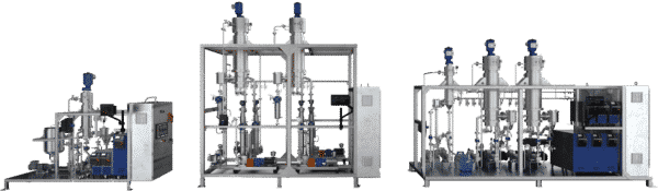 1, 2, and 3-column rolled film distillation units