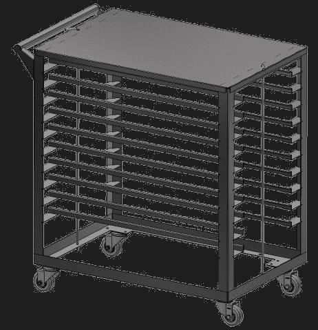 Edible cooling cart