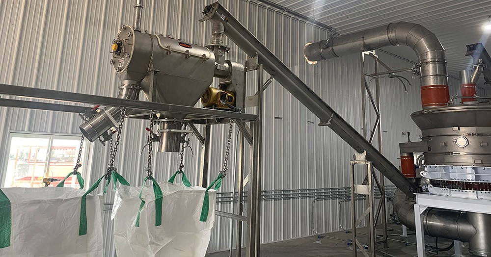 Hemp Sifter Attached To Dust Collector